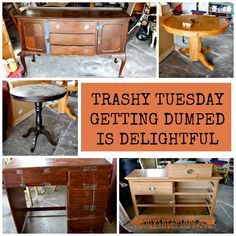 Trashy Tuesday, Weekly Dumpster Diving Finds.  This Week, Getting Dumped is Delightful for Redouxers!  REDOUXINTERIORS.COM FACEBOOK: REDOUX