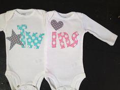 Boy girl twin onesies Boy girl twins twin by PaisleyPrintsSpokane, $38.95