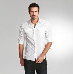 Kenneth Cole novelti shirt, kenneth cole, white shirts, rolltab sleev, militari shirt, cole ny, man