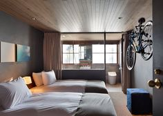 Cyclists can check-in to this hotel while still on their bikes.