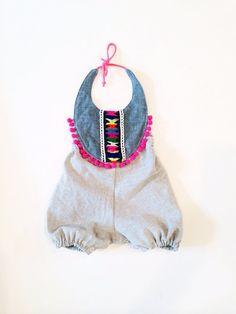 Festive boho infant and toddler romper  by thebrassrazookids, $48.00