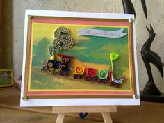 papercrafts: Quilled Train ...Birthday Card