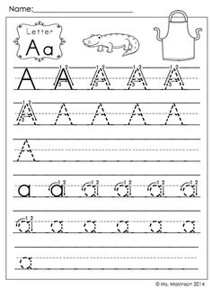 $ Back to School Printables - Kindergarten Literacy and Math. Printing Practice