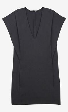 Jil Sander Dark Grey Dress