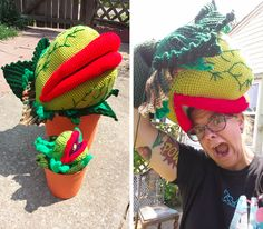 yes i did. i crocheted an audrey ii from little shop of