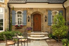 cottag, country houses, custom homes, exterior, shutter, front doors, french country, patio, dream houses