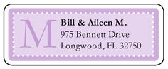 Create beautiful monogrammed address labels with this lavender wedding label template.