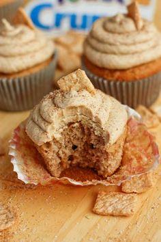 Cinnamon Toast Crunch cupcakes- might try w PB Crunch...