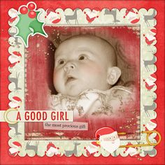 """A Good Girl"" digital scrapbooking layout"