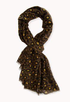 Run Wild Leopard Scarf | FOREVER21 Get wild with your accessories #Scarf #AnimalPrint #Leopard
