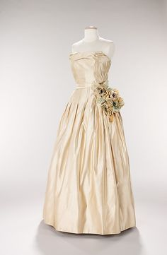 1951, France - Silk evening dress attributed to Christian Dior
