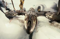 """A P-38F Lightning nicknamed """"Glacier Girl"""" being recovered after 50 years under 265 feet of ice."""