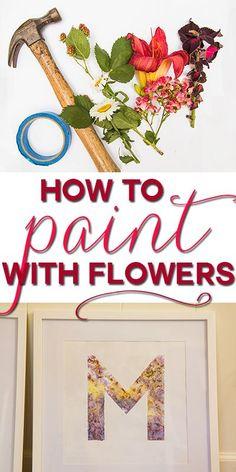 This is SO COOL! Make DIY art using flowers as dye!