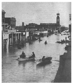 Weather Extremes : California's Downtown Sacramento - Jan 1862 - Photo from the Bancroft Library Collection - UC Berkeley - Superstorm: The USGS ARkstorm Report and the Great Flood of 1862 | Weather Underground