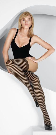 Vertical lines on hose make legs look even longer!!