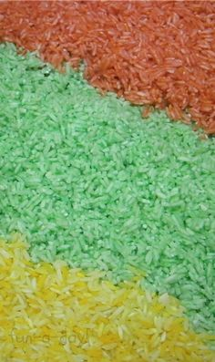 Colorful and Scented Rice Using Jell-O from www.fun-a-day.com