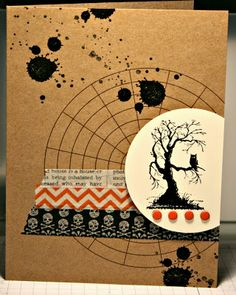 Stamping with Kim: SSINKspiration: Halloween Cards, Washi Tape, Stampin' Up!, Kim Ryden, My Paper Pumpkin