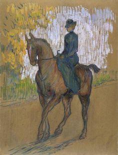 Henri de Toulouse-Lautrec -Side-saddle,1899.