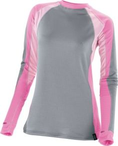 """This top is warm. Can be worn alone or layered for more warmth if needed. It is sized appropriately. It stretches a lot. Good value for the cost."" Review of the Cabela's Women's E.C.W.C.S. Thermal Zone® Base Layer Crew"