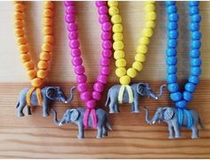 DIY Elephant Necklaces Via Design Mom
