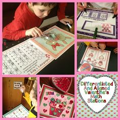 A Differentiated Kindergarten: Love to Plan Differentiated and Aligned Valentine's Math Stations