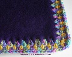 crochet blankets, tie blankets, baby gifts, blanket stitch, the edge, crochet edgings, fleece blankets, blog, fleec blanket