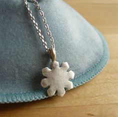 Small Snowflake necklace in 925 sterling silver by TaliaJewelry