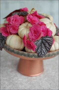Fall Wedding Centerpiece Ideas. Replace pink with fall flowers