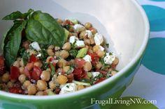 Middle Eastern Vegetable Salad {End-of-summer recipe}
