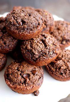 Chocolate Peanut Butter Oatmeal Brownie Bites (wheat free, vegan)