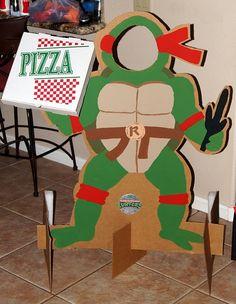 birthday parties, turtl parti, photo props, photo booths, ninja turtle party, ninja turtles, cut outs, parti idea, ninja turtle birthday