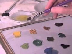 China Painting Tutorial - Mixing China Paints - Barbara Duncan
