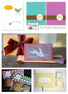 5 Free Printable Thank You Cards
