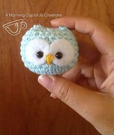 Free pattern for adorable tiny round owl ornament