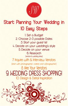 Start planning your wedding with these tips
