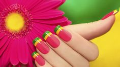 Bright and colorful nails