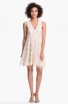 French Connection 'Loving Crochet' Fit & Flare Dress available at Nordstrom  I WANT...