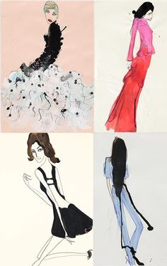 Tanya Ling #Fashion illustration
