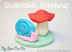 Sculptable frosting ...or edible play dough!