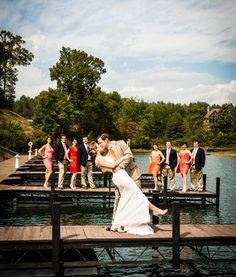 Bridal Party. yes! summer weddings are the best, especially with sunny weather. and on a boat or dock? fabulous! #WeddingParty #Bridesmaids #Groomsmen #WeddingPhotographyIdeas #MiWeddingNeeds