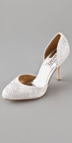 Lace pumps to go with the Elegant Silk Crepe gown!
