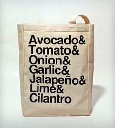 Need this for the farmer's market! Guacamole Tote   Scoutmob Shoppe
