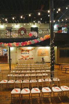industrial ceremony space, photo by Heidi Benjamin http://ruffledblog.com/revolution-hall-wedding #weddingvenue #ceremonies