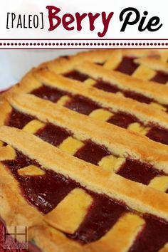 Berry Pie - Paleo, grain-free, gluten-free, dairy-free