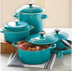 le creuset, dutch ovens, color, tiffany blue, aqua