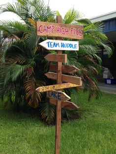 Awesome homemade sign from Felix A. Williams! Camp High Five!