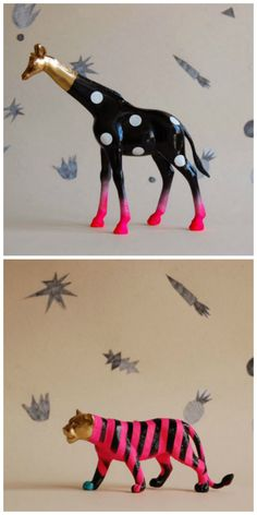 Plastic animal DIY