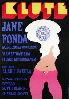 Klute Polish film poster byJan Mlodozeniec 1973