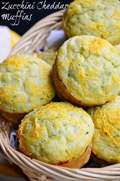Zucchini Cheddar Muffins | from willcookforsmiles.com | #muffins #savorymuffins #zucchini