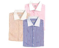 """The best part about 1920′s shirts were the vivid color choices. White was boring. Pastels yellows, blues, greens and even pink solids were common as well as a mix of these colors in 1/4 inch stripes. Shirts always had white cuffs and collars. Have fun choosing your shirt color!"""